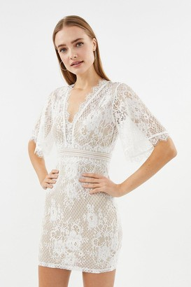 Coast V Neck Lace Shift Dress