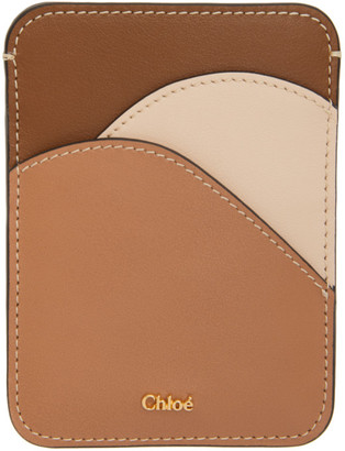 Chloé Brown and Pink Walden Card Holder