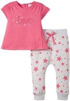 Petit Lem Little Star 2 Piece Set (Baby) - Pink/Grey - 6 Months
