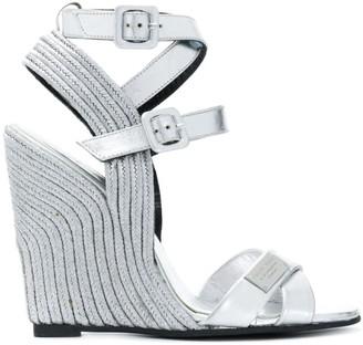 Philipp Plein High Wedge Sandals