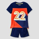 Cat & Jack Toddler Boys' Top and Bottom Sets Orange Spark