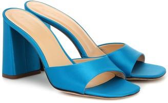 BY FAR Juju satin sandals