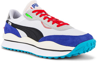 Puma Select Rider 020 in Puma White & Dazzling Blue | FWRD