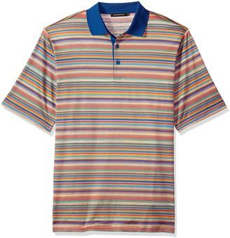 Bugatchi Men's Shaped Fit Jacquard Striped Candy Polo Shirt XXL