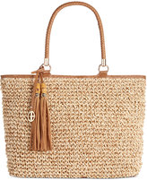 Giani Bernini Marled Straw Tote, Only at Macy's