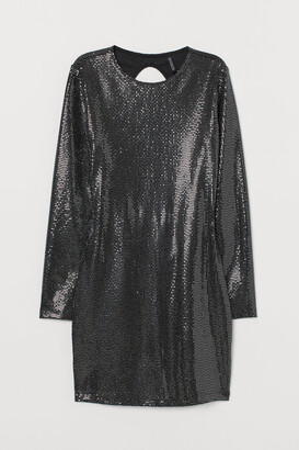 H&M Shimmering bodycon dress