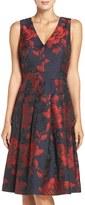 Eliza J Petite Women's Floral Fit & Flare Dress