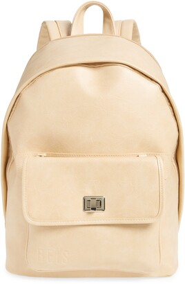 Béis The 2-in-1 Faux Leather Backpack
