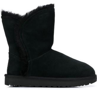 UGG Faux-Fur Trim Boots