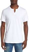 Alternative Notched Neck Pima Cotton T-Shirt