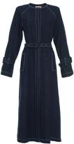 Blumarine A Line Denim Coat
