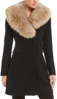 Kate Spade Walker Coat with Removable Faux-Fur Collar