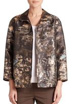 Lafayette 148 New York Griffin Abstract Print Satin Jacket