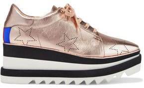 Stella McCartney Printed Metallic Faux-leather Platform Sneakers