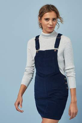 Next Womens Navy Cord Pinny Dress - Blue