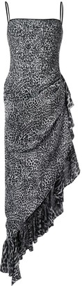 Rasario Leopard-Print Asymmetric Dress