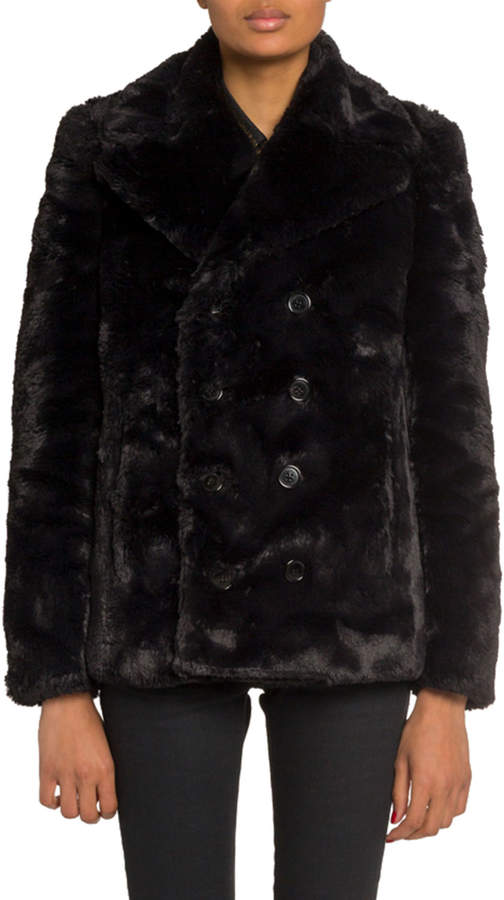 6a0c51d2d7e Saint Laurent Black Fur & Shearling Coats - ShopStyle