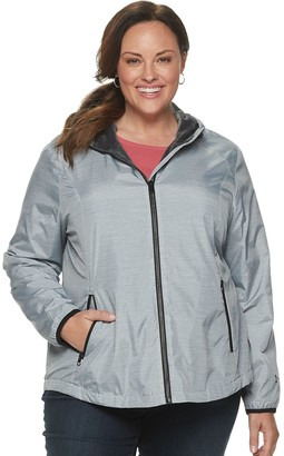 Free Country Plus Size Hooded Water-Resistant Jacket