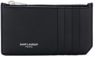 Saint Laurent Card Holder in Black | FWRD