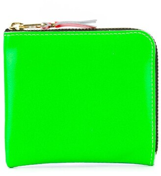 Comme des Garcons Super Fluo zip-around wallet