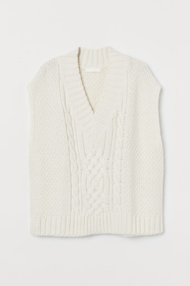 H&M Cable-knit Sweater Vest
