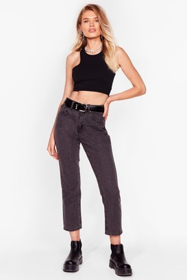 Nasty Gal Womens Mom's Always Right High-Waisted Jeans - Grey - 6, Grey