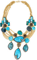 Alexis Bittar Cordova Chrysocolla & Smoky Quartz Bib Necklace