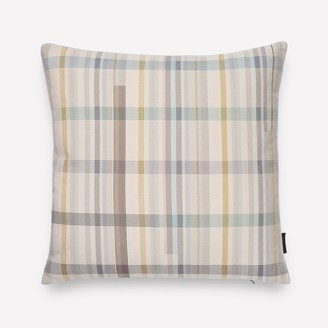 Design Within Reach Darning Sampler Plaid Pillow