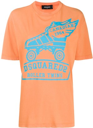 DSQUARED2 rollerskate print T-shirt
