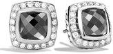 David Yurman Petite Albion Earrings with Hematine and Diamonds