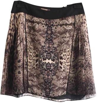 Roberto Cavalli Brown Silk Skirt for Women