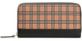 Burberry Checked Canvas And Leather Continental Wallet