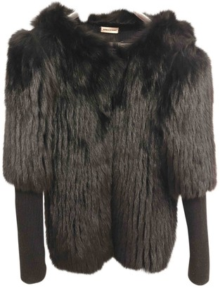 Sonia Rykiel Black Fox Coat for Women
