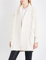 Burberry Camrosebrooke cable-knit wool and cashmere-blend cardigan