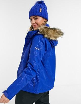 Roxy Jet Solid ski jacket in blue