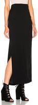Ann Demeulemeester Belted Column Skirt in Black.