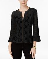 INC International Concepts Petite Lace Peplum Jacket, Only at Macy's