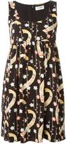 Saint Laurent sleeveless flared dress - women - Silk/Polyester - 40