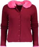 Blugirl Cardigan With Fur Collar