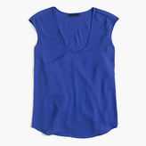 J.Crew Cap-sleeve shirttail top