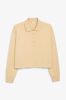 Monki Cropped polo shirt