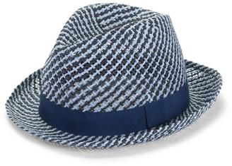 Paul Smith Two Tone Straw Fedora Hat