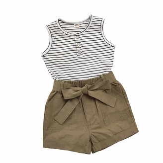 VIENNAR Toddler Baby Girl Summer Sleeveless Tops Shorts Set