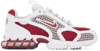 Nike Red and White Spiridon Cage 2 Sneakers