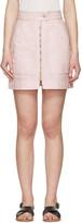 Isabel Marant Pink Workwear Denim Demie Miniskirt
