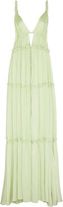 Jonathan Simkhai Jade Silk Maxi Dress