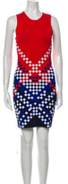 Thumbnail for your product : Alexander Wang Printed Mini Dress Red