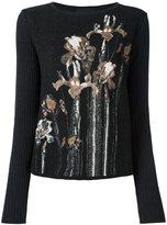 Class Roberto Cavalli floral intarsia sweater - women - Polyamide/Mohair/Alpaca - 40