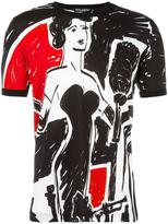 Dolce & Gabbana musician print T-shirt - men - Cotton - 44