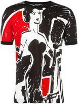 Dolce & Gabbana musician print T-shirt - men - Cotton - 46